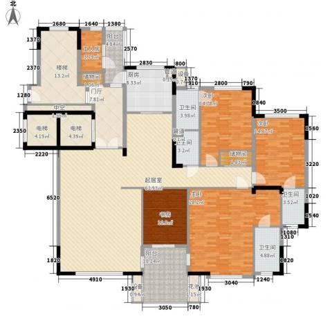 滨江一号4室0厅4卫1厨211.00㎡户型图