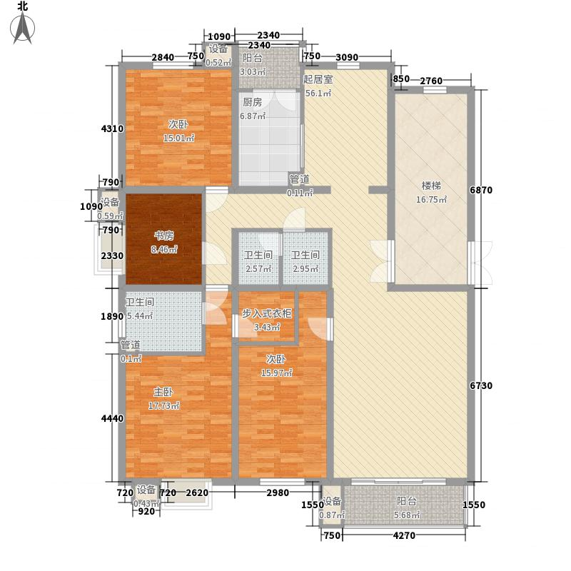 健康家园175.85㎡A户型3室2厅2卫1厨