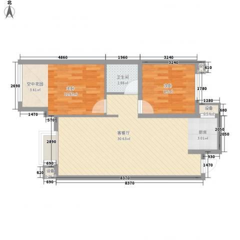 金洋石河湾2室1厅1卫0厨78.00㎡户型图