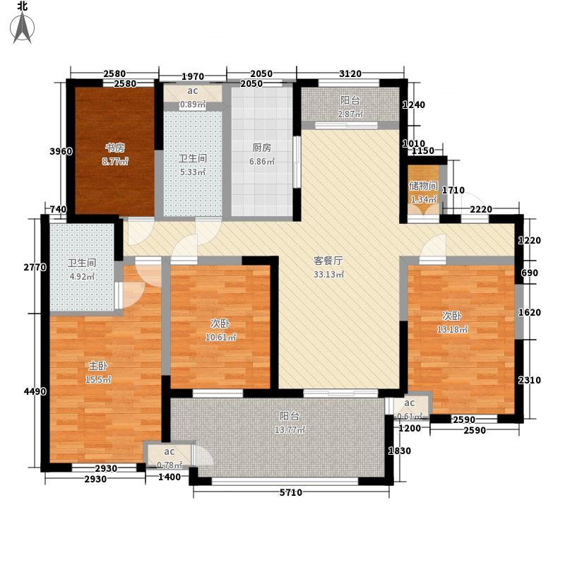 新城公馆别墅163.00㎡户型4室2厅2卫1厨
