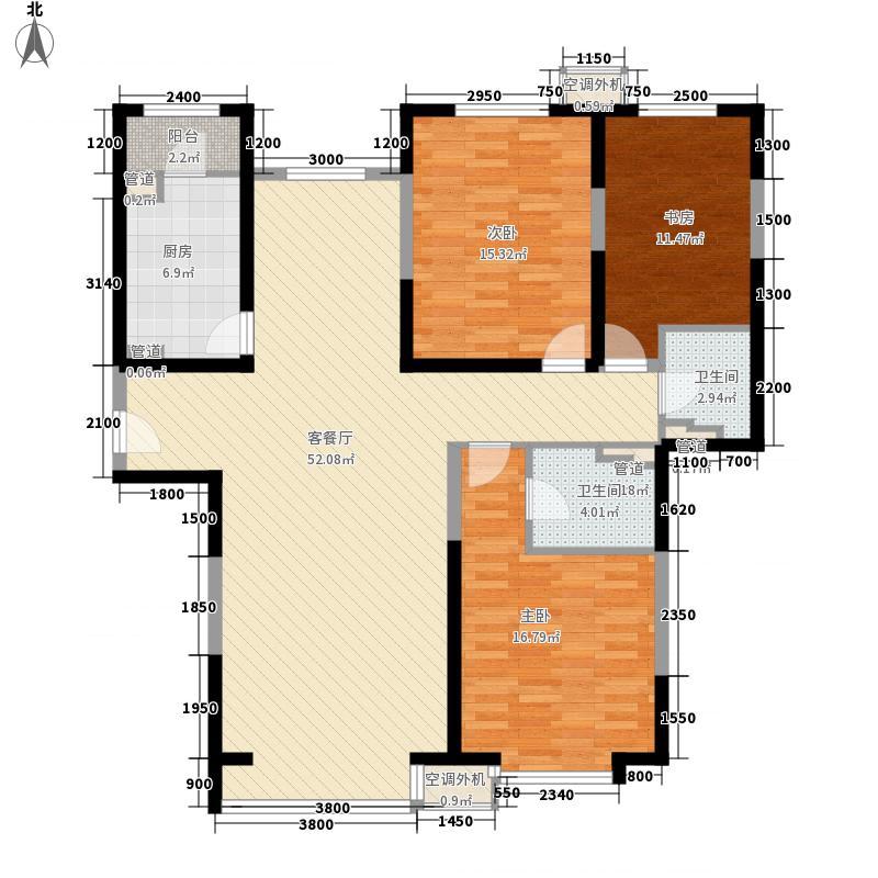 欧逸水岸164.10㎡A-C户型3室2厅2卫1厨