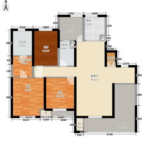 新城公馆别墅3室1厅2卫1厨172.00㎡户型图
