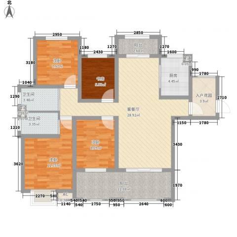 锦园4室1厅2卫1厨138.00㎡户型图