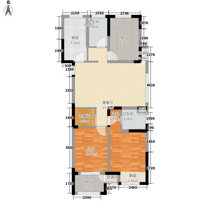 阳光金域121.00㎡一期4-5#楼标准层B1户型3室2厅2卫1厨
