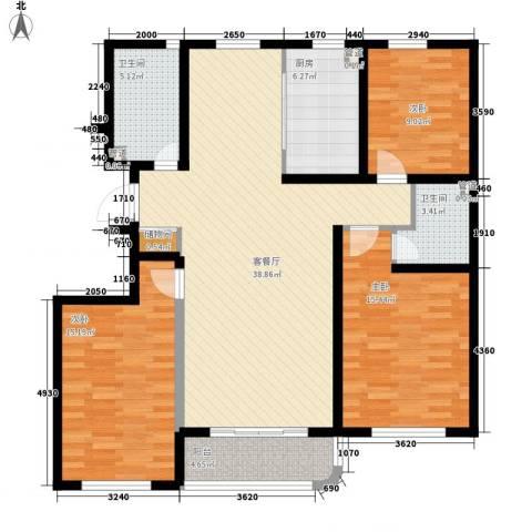 印象江南3室1厅2卫1厨142.00㎡户型图