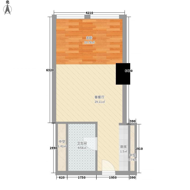 正佳东方国际60.53㎡正佳东方国际户型图13-26层11、17单位(H)户型1室2厅1卫1厨户型1室2厅1卫1厨