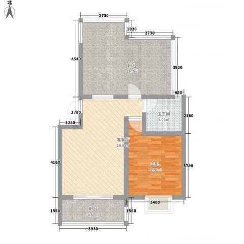润达小区1室1厅1卫0厨69.00㎡户型图