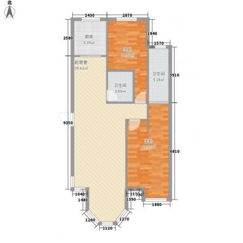 新星壹品御园2室0厅2卫1厨108.00㎡户型图