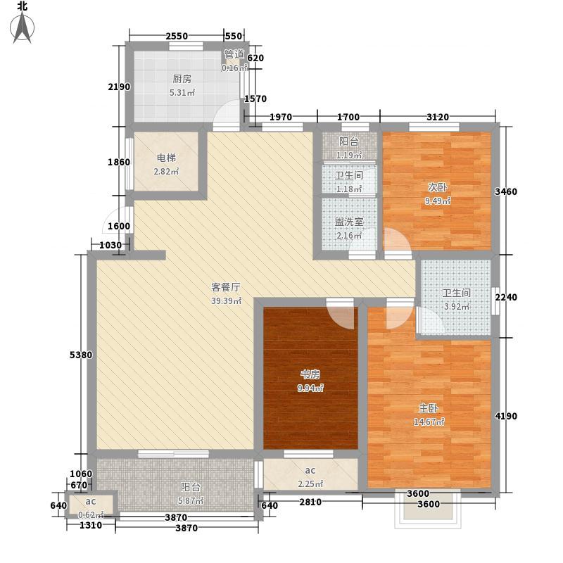 ㎡郡143.36㎡㎡郡户型图A户型-3-2-2--143.36㎡3室2厅2卫1厨户型3室2厅2卫1厨