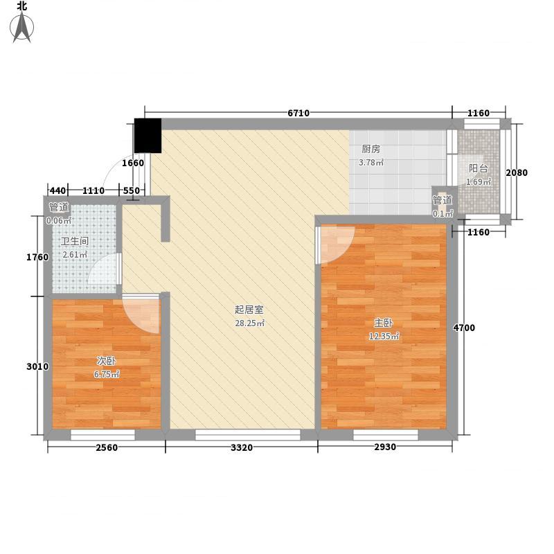 金瑞林城5#楼户型2室1厅1卫1厨