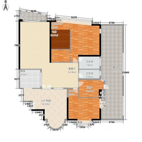 中信君庭3室1厅2卫0厨260.00㎡户型图