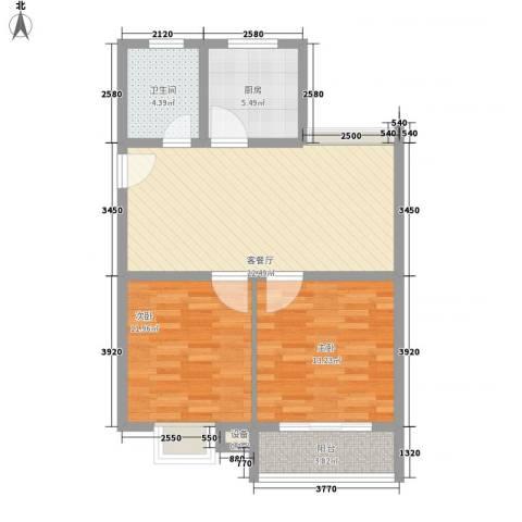 兴源家园2室1厅1卫1厨90.00㎡户型图
