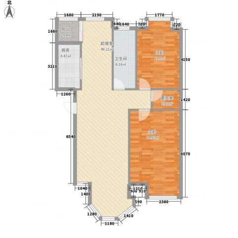 新星壹品御园2室0厅1卫1厨116.00㎡户型图