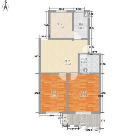 汇隆花园2室2厅1卫0厨92.00㎡户型图