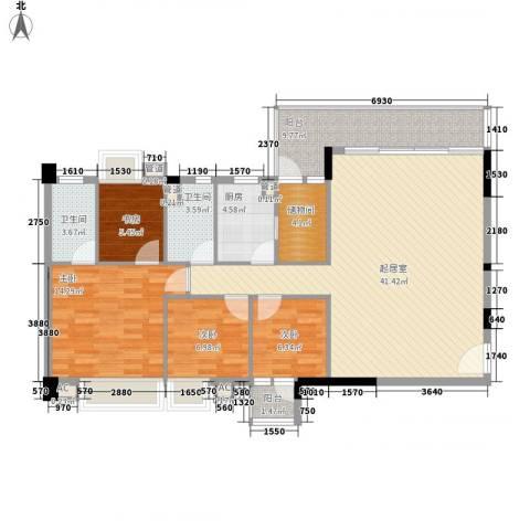 骏景花园北苑4室0厅2卫1厨144.00㎡户型图