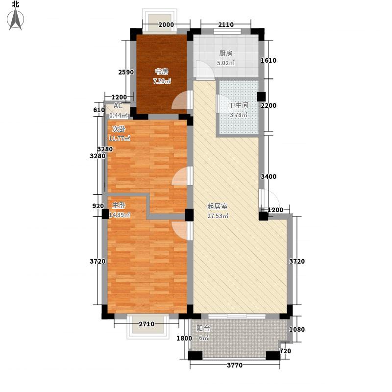 百商爱上城户型图多层洋房户型C 3室2厅1卫1厨