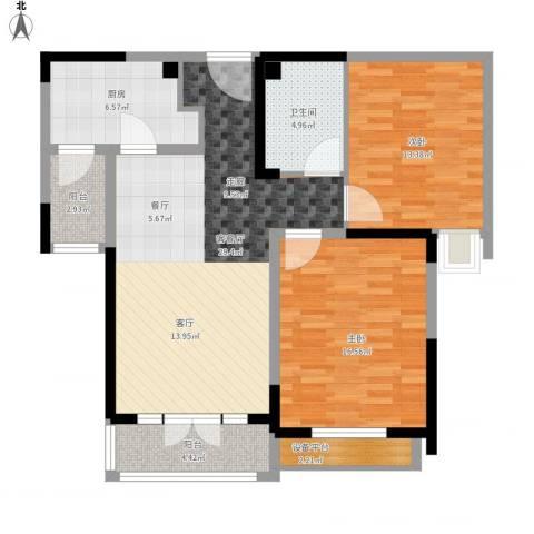 碧桂园滨海城2室1厅1卫1厨116.00㎡户型图