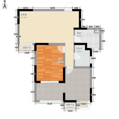 小天鹅品园1室0厅1卫1厨86.00㎡户型图