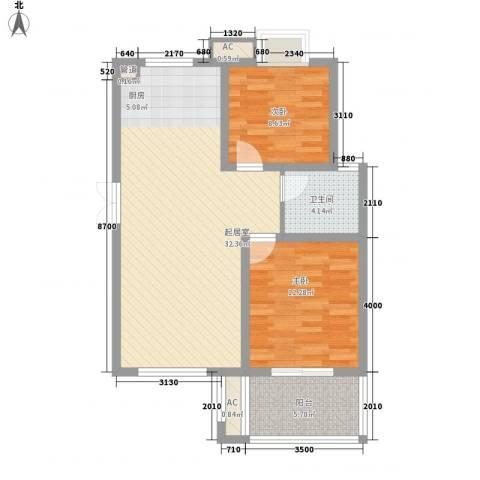 四季新城金典2室0厅1卫0厨93.00㎡户型图