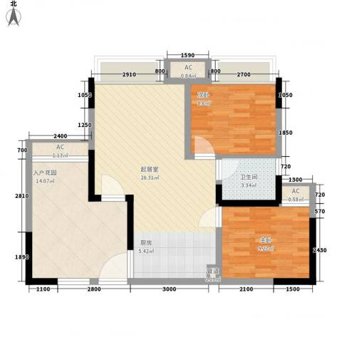 半山溪谷E墅别墅2室0厅1卫0厨93.00㎡户型图