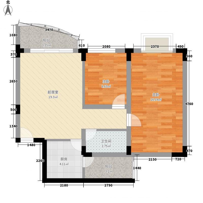 金碧花园79.44㎡金碧花园2室户型图户型2室