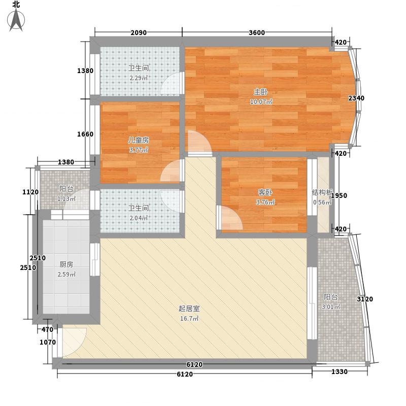 金碧花园67.00㎡金碧花园2室户型2室