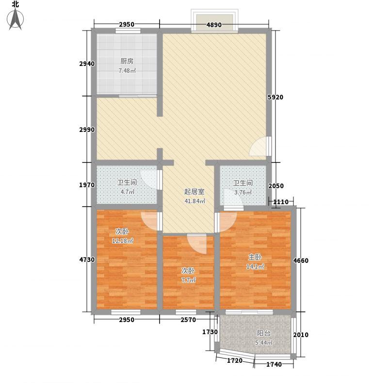 汇隆花园125.00㎡户型3室