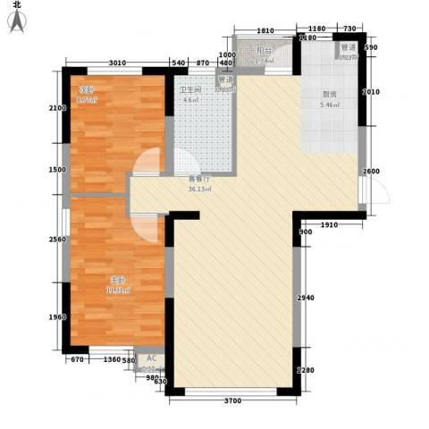 众诚一品东南2室1厅1卫0厨89.00㎡户型图
