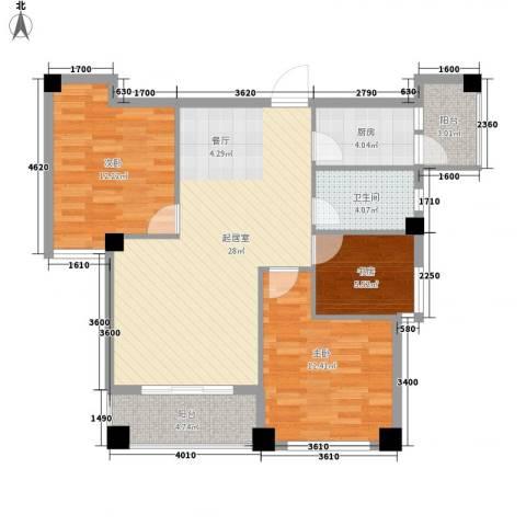 版纳一品3室0厅1卫1厨105.00㎡户型图