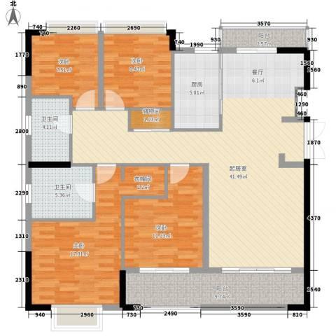 版纳一品4室0厅2卫1厨162.00㎡户型图