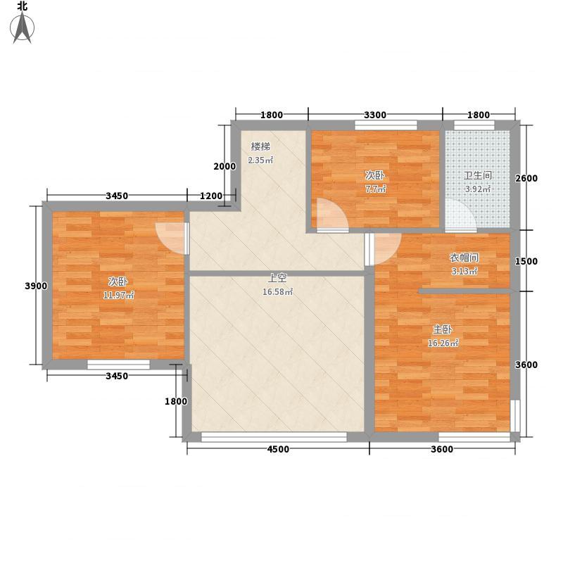温泉曦月湾11.30㎡单G跃层M3B上层户型1室2厅1卫1厨