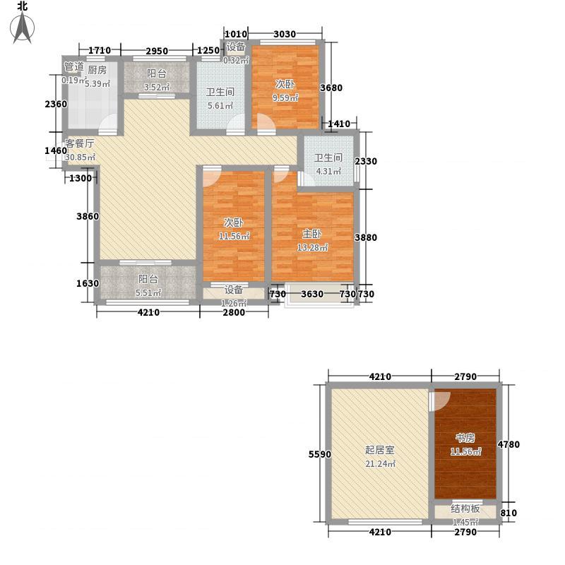 永泰・山海自在154.50㎡Gn跃户型4室3厅2卫