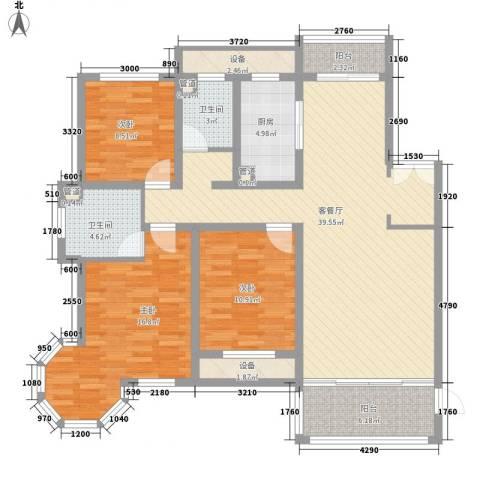 新公馆3室1厅2卫1厨149.00㎡户型图