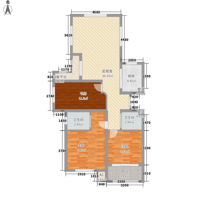 郡城龙泉湾121.00㎡郡城龙泉湾C户型3室2厅2卫1厨121.00㎡户型3室2厅2卫1厨