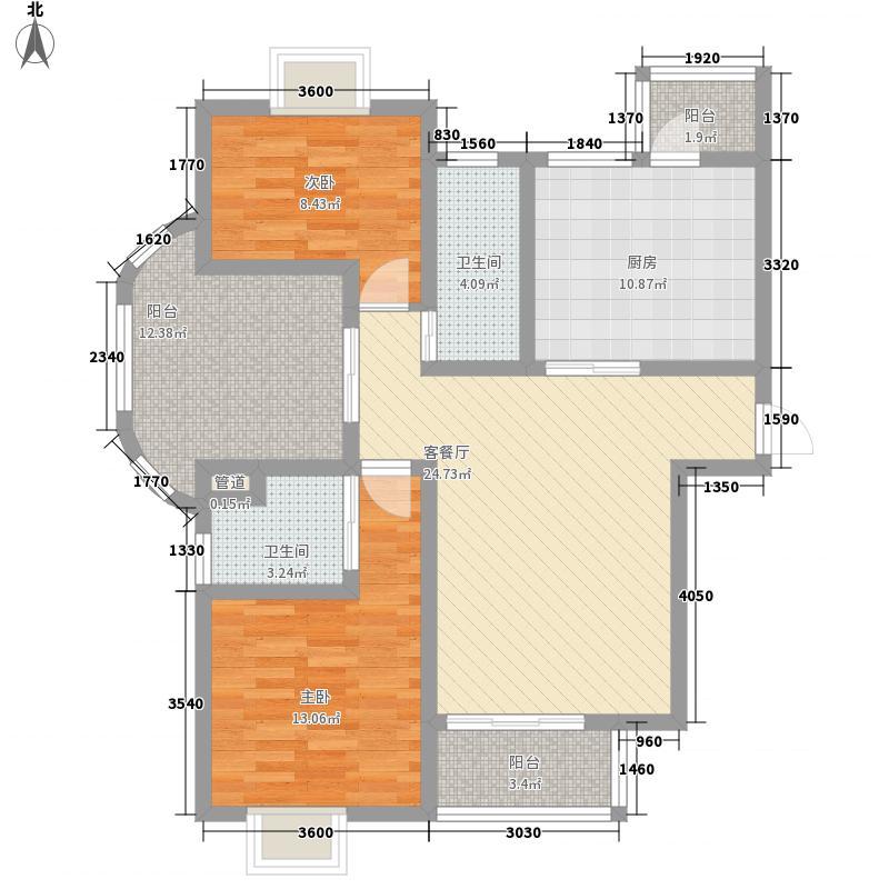 东亚.马赛公馆12.00㎡东亚马赛公馆户型3室2厅2卫1厨
