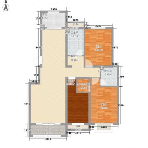 中基碧域3室1厅2卫1厨149.00㎡户型图