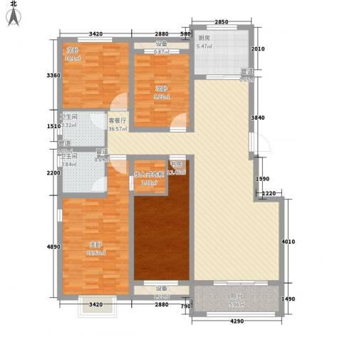 中基碧域4室1厅2卫1厨156.00㎡户型图