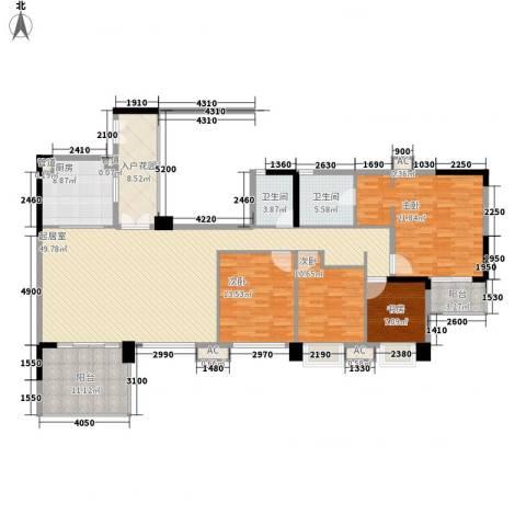 万科虹溪诺雅别墅4室0厅2卫1厨176.00㎡户型图