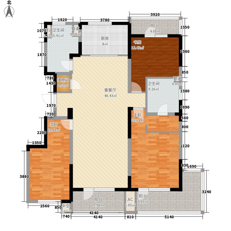 万科金域蓝湾165.00㎡万科金域蓝湾户型图31#165㎡户型图3室2厅2卫1厨户型3室2厅2卫1厨