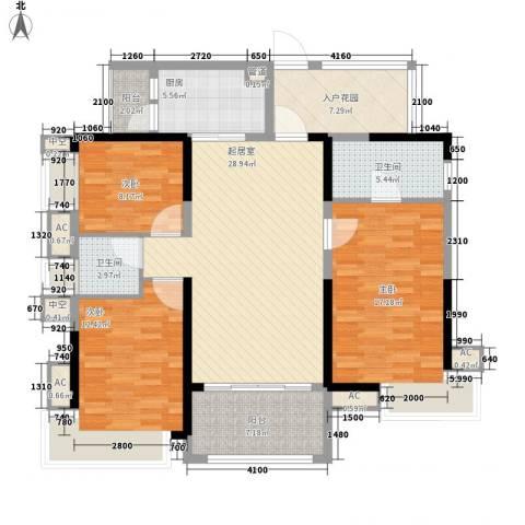 鼎峰尚境别墅3室0厅2卫1厨145.00㎡户型图