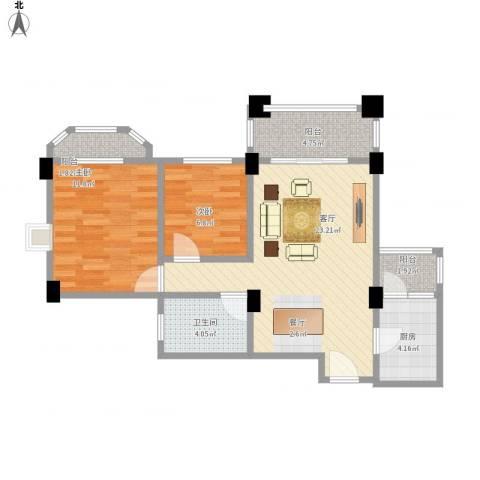 南沙碧桂园2室1厅1卫1厨84.00㎡户型图