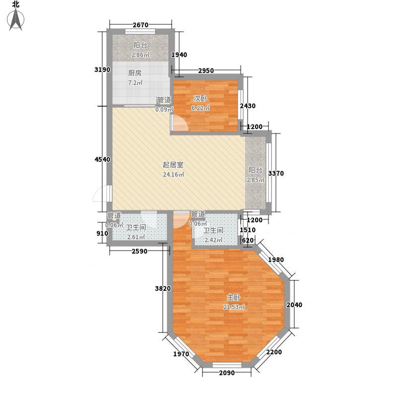 湘江悦89.83㎡湘江悦户型图M户型2室2厅2卫1厨户型2室2厅2卫1厨