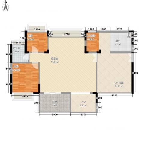 劲力城市明珠三期2室0厅1卫0厨117.12㎡户型图