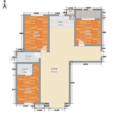 花样年华3室0厅2卫0厨124.00㎡户型图