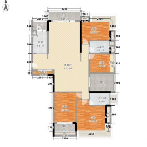 金地格林上院三期4室1厅2卫1厨148.00㎡户型图