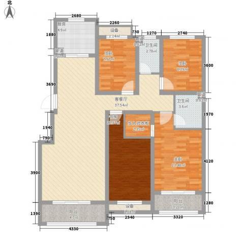 中基碧域4室1厅2卫1厨152.00㎡户型图