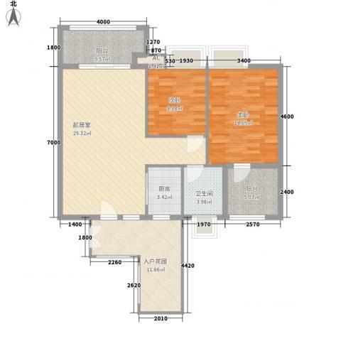 丽骏豪庭2室0厅1卫1厨92.00㎡户型图
