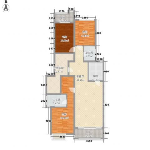 水半湾3室1厅2卫1厨144.00㎡户型图