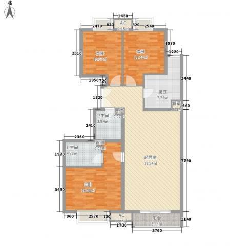 荣御原上园3室0厅2卫1厨139.00㎡户型图