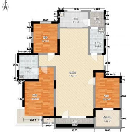 棠棣3室0厅2卫1厨143.00㎡户型图